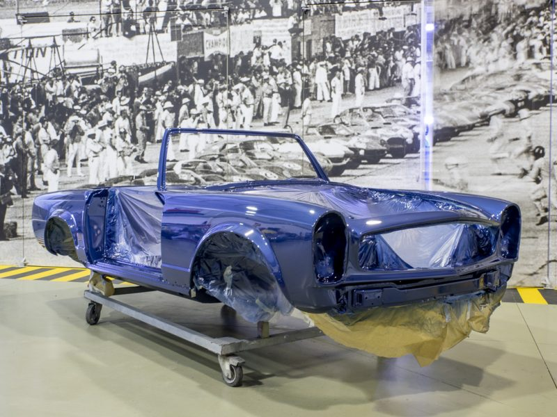 Mercedes-Benz 280SL Pagoda 1970 Blue Pintura
