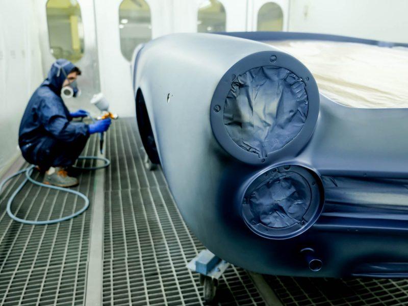 Alfa Romeo 2600 Spider 1968 Blue Pintura
