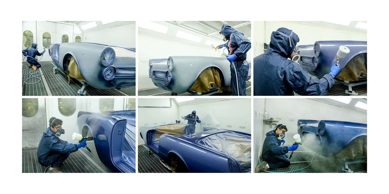 Alfa Romeo 2600 Spider 1968 Blue Resumo Pintura