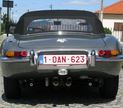 Jaguar E-Type Series I OTS 1965 Opalescent Silver Grey Back