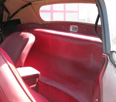 Jaguar E-Type Series I OTS 1965 Opalescent Silver Grey Back Seats
