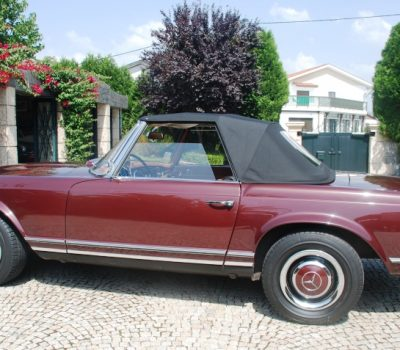 Mercedes-Benz 230SL Pagoda 1965 Bordeaux Left Side