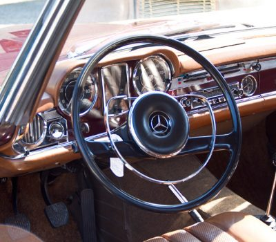 Mercedes-Benz 230SL Pagoda 1965 Bordeaux Steering Wheel