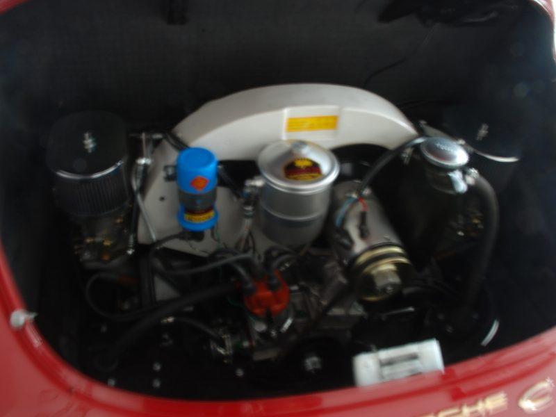 Porsche 356C 1964 Signal Red Engine