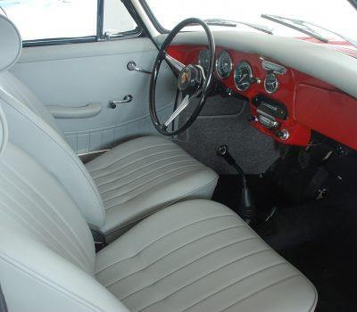 Porsche 356C 1964 Signal Red Interior