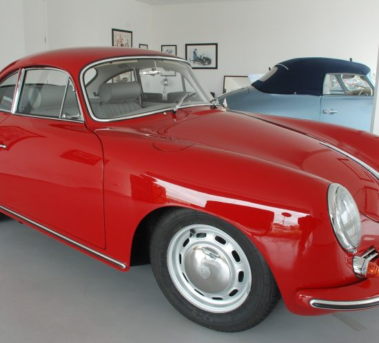 Porsche 356C 1964 Signal Red Right Side