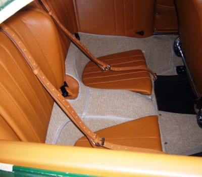 Porsche 356SC 1963 Iris Green Back Seats