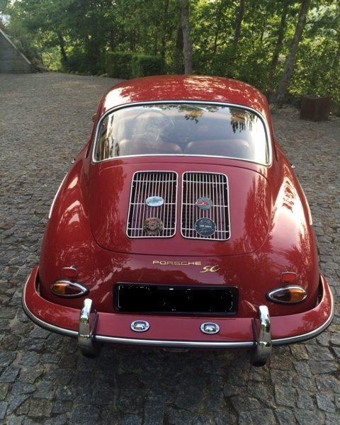 Porsche 356SC 1964 Ruby Red Back