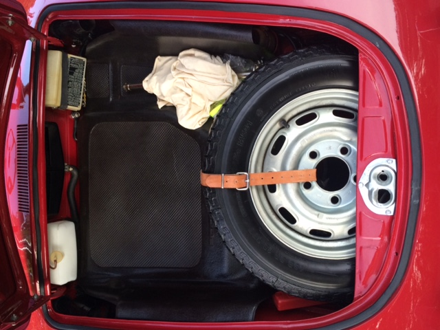 Porsche 356SC 1964 Ruby Red Bagage