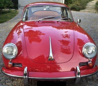 Porsche 356SC 1964 Ruby Red Front