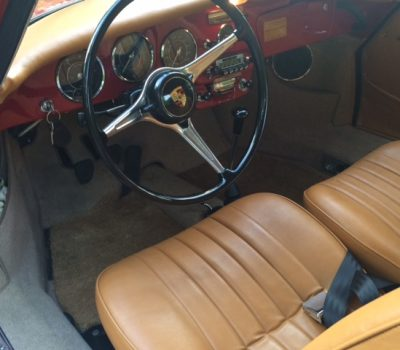 Porsche 356SC 1964 Ruby Red Interior