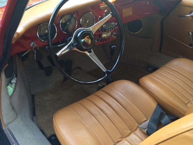 Porsche 356SC 1964 Ruby Red Interior