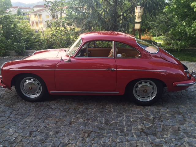 Porsche 356SC 1964 Ruby Red Left Side