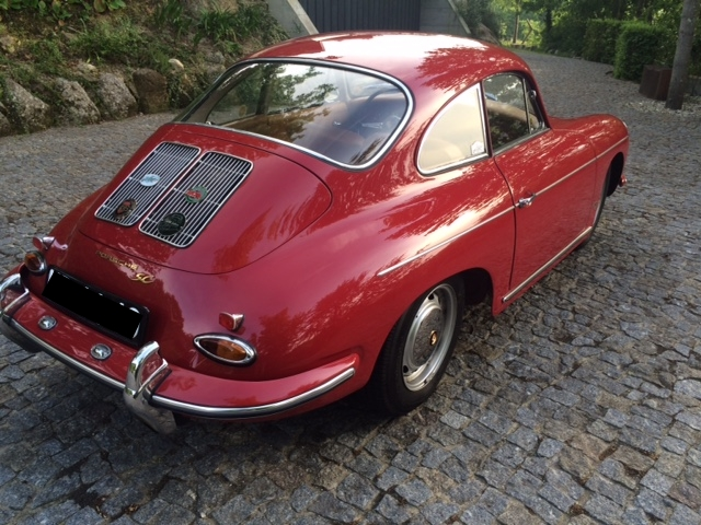 Porsche 356SC 1964 Ruby Red Back Right