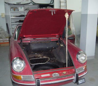 Porsche 911 Targa Soft Window 1968 Red Bagage