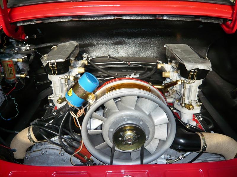 Porsche 911 Targa Soft Window 1968 Red Engine After