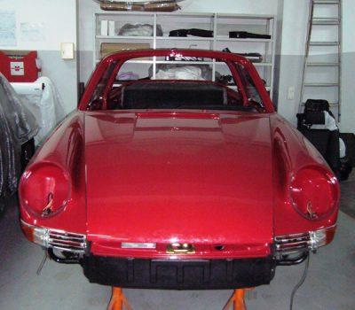 Porsche 911 Targa Soft Window 1968 Red Painting Front