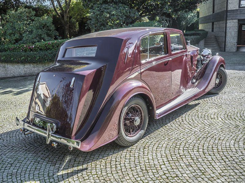 Rolls Royce Wraith 1938 Bordeaux Back